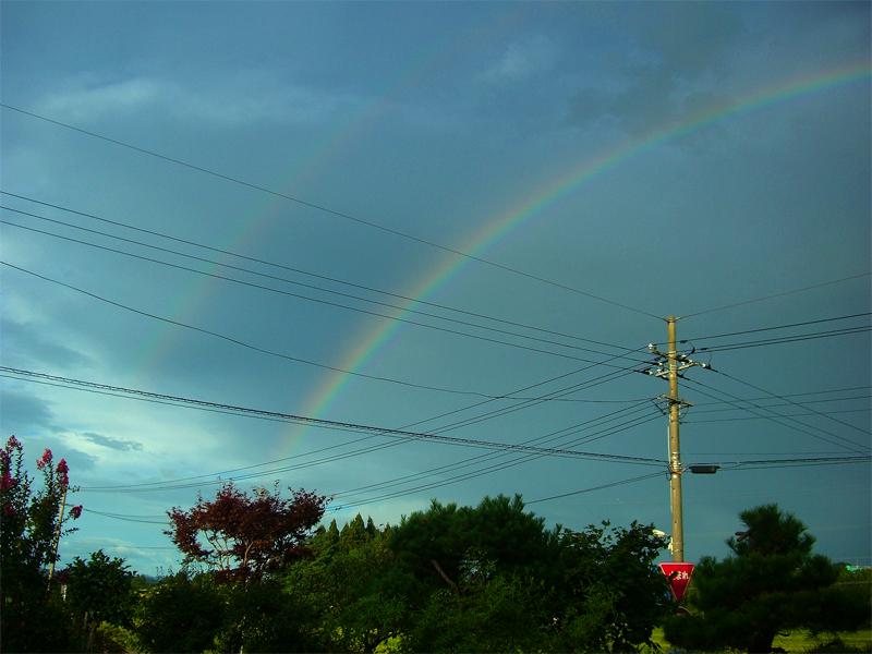 強首の虹 20110903