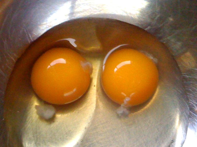朝食に比内鶏の卵とは豪勢な・・・