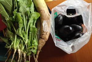 今年いただいた野菜の一部