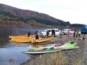 昨日の四季美湖のカヌー体験会