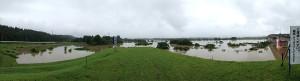 昨日の雨で雄物川がとんでもないことになってる