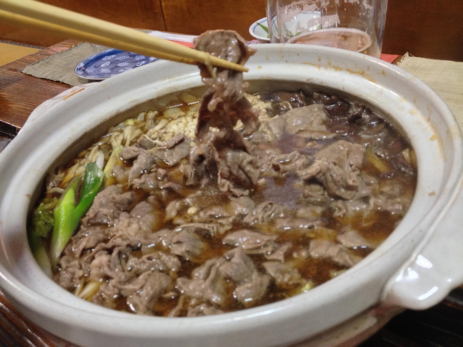 としまの牛肉鍋