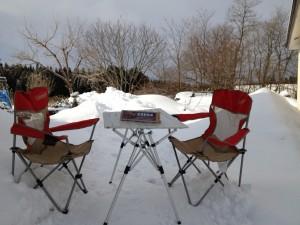 雪中カフェ 本日オープン